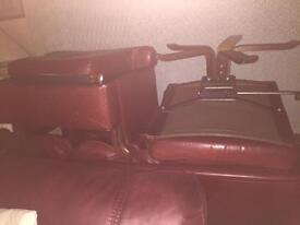 3piece suite + swivel chair