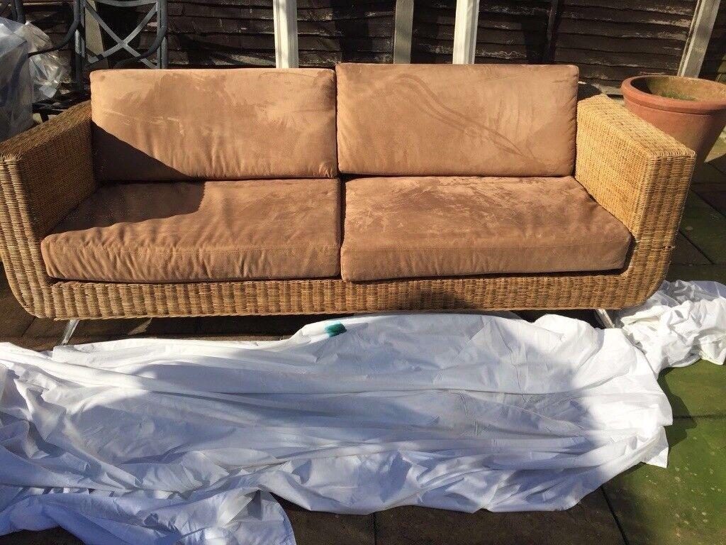 Quick Sale Gorgeous Wicker Sofa Cheap In Broadheath
