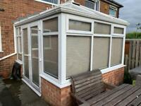 Conservatory with Thermal blinds 3.5m x 3m available from October