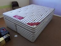 Double bed with divan base