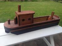 Handmade wooden barge planter
