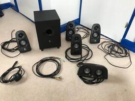 Logitech Z506 5.1 Surround Sound Speaker System (5 Speakers + Sub-woofer)