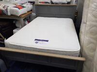 NEW Ex Showroom Display 4.6ft Double Grey Bedstead and Mattress