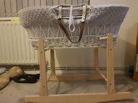 grey moses basket collection only need gone asap!