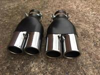 2 twin exhaust tips Bmw audi Mercedes golf