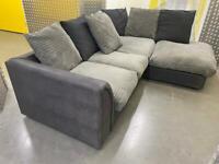 Grey&black L shape sofa •free delivery
