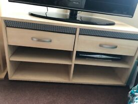 OPEN TO REASONABLE OFFERS - Light wooden tv stand