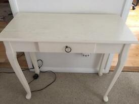 Cream console table