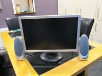 Computer monitor (19 inches) with unused speakers