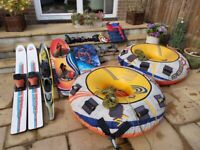Skis, Wakeboard, Ropes and Rings