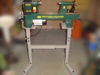 Cast iron (wood) lathe - Record Power DML305 - optional stand and accessories included (see photos)