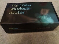 TalkTalk wireless router with box and cables