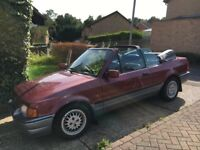Limited Edition Ford Escort XR3i Convertible