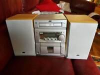 JVC CD/Tape/Radio HiFi Unit. Works Perfectly.