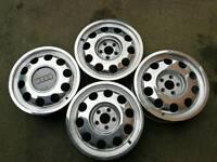 Audi pepper pot alloy wheels 5x100 6Jx15