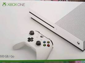 Xbox one s 500gig +games