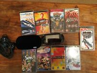 PSP bundle psp console and 9 games