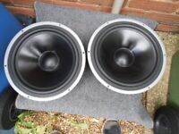 "ELTAX SPEAKERS BASS DRIVERS 10 "" SIZE"