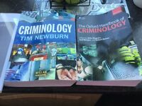 2 very good condition criminology books great for students