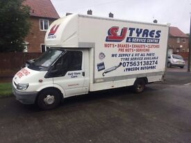 REDUCED TO SELL FORD TRANSIT XLWB LUTON ON LPG