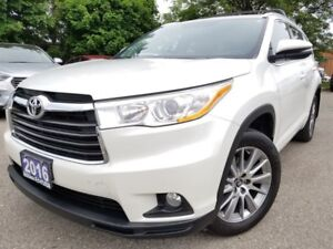 2016 Toyota Highlander XLE-Leather-Sunroof-Navi-GREAT DEAL
