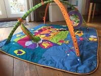 Baby gym - sounds, colours and textures