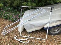 Two clothing rails - good for car boot