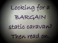 cheap bargain static caravan on amazing park 7 location. Berwickshire coast. near Edinburgh. Superb!