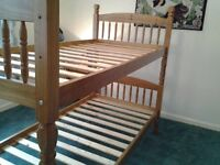 Solid Pine 3ft Bunk Beds incl. Mattresses