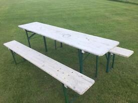 Bavarian Beer Table and 2 benches