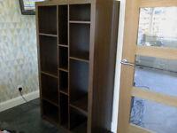 IKEA Black/Brown Sturdy Shelving Unit (H149 x D39 x W89cm) Excellent Condition
