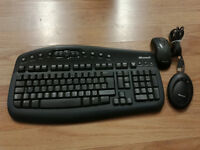Microsoft Wireless Optical Desktop 1000 Standard Keyboard and Optical Mouse