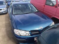 2001 nissan almera, 1.5 petrol, breaking for parts only, all parts available