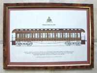 Rare Antique Framed Reproduction Print Pullman Parlor Car Of 1874 - christopher howell - jones trams.vintage wall.rare - ebay.co.uk