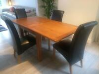 Dining table and chairs furniture village
