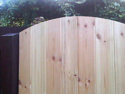 BESPOKE SIZED Tongue & Groove Medium Duty Arched Wooden Side Gate