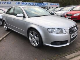 2006 AUDI A4 S LINE TDI 115 SILVER 1.9 TDI ***ONE OWNER***FULL SERVICE HISTORY**