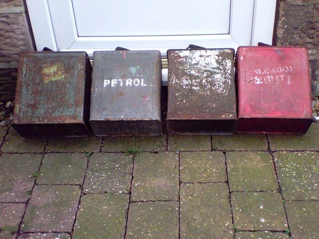 Vintage ESSO Petrol tins