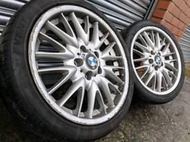 "18"" Genuine BMW 3 series alloy wheels & tyres 5x120"