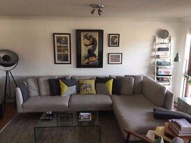 Stunning Venturi Corner Sofa by Made in grey beige
