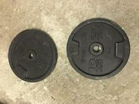 2x 10kg barbell weights
