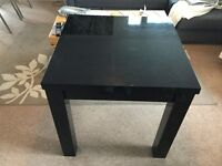 Black extendable table from Next