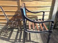 vintage cast iron garden chairs fully restored to the highest standard call for info