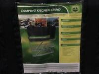 Camping cooker and stand