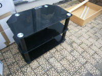 black 3 tier tv stand