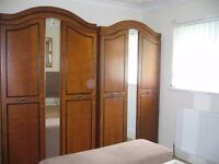 Classic double wardrobes and bedside cabinets