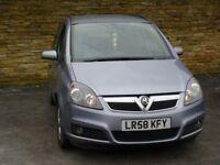 2008 Vauxhall Zafira 1.6 i 16v Life petrol 5door 7 seater low mileage long MOT hpi clear