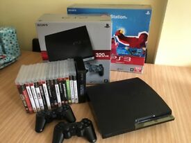 PS3 Boxed with pads and 16 games