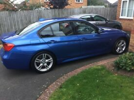 2013 BMW 330D estoril blue 258 bhp fsh 42000 miles