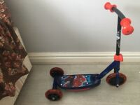2 Spider-man scooter as new